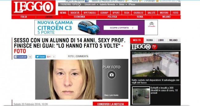 """Leggo.it Articolo Acchiappa-visite """"format spazzatura"""""""